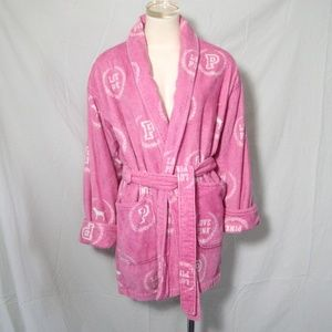 Victoria's Secret LOVE PINK Robe Plush Terry Cozy
